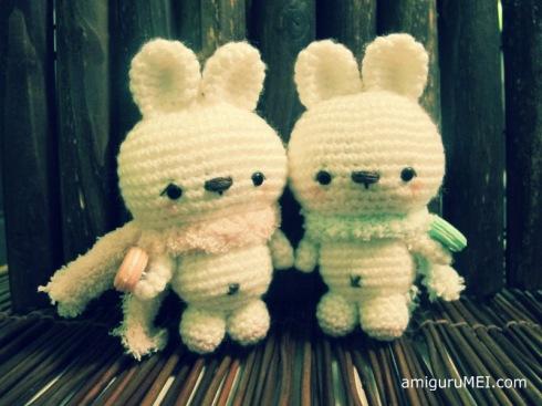 rabbit amigurumei easter macaron