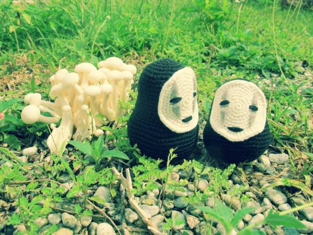 spirited away amigurumei crochet no face ghibli