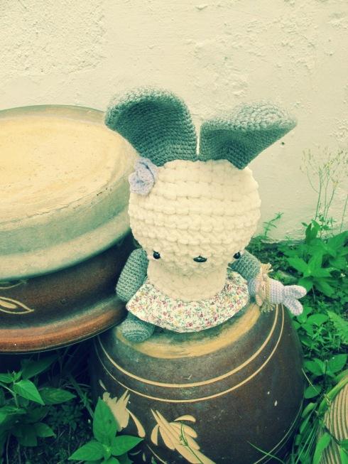 bunny amigurumei grey crochet