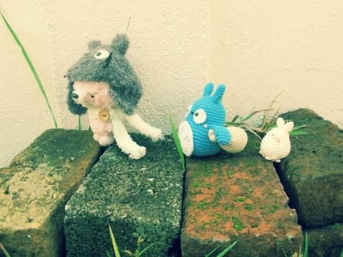blue white grey totoro amigurumi amigurumei crochet ghibli