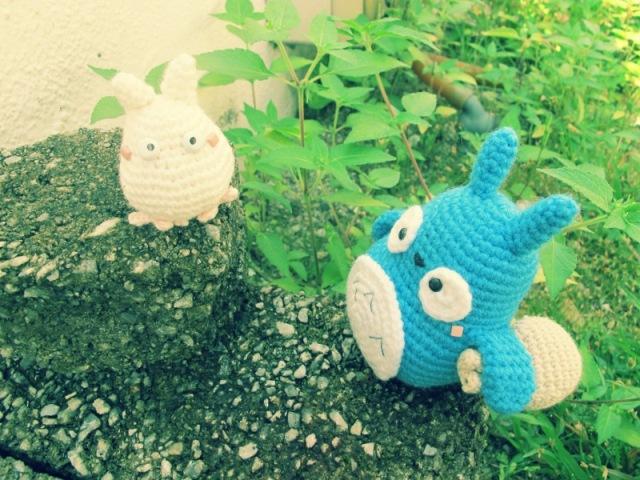 blue white totoro amigurumi crochet ghibli