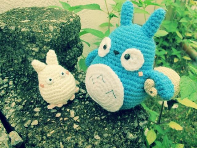 blue white ghibli amigurumei crochet