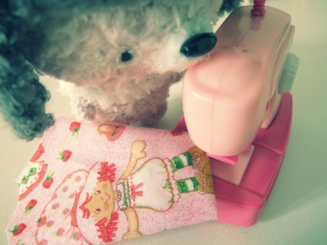 fuzzy crochet amigurumei pink