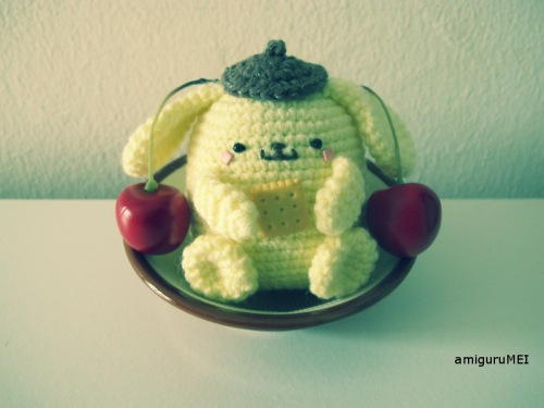 yellow dog amigurumei crochet