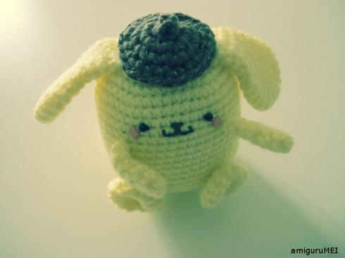 yellow dog crochet amigurumei