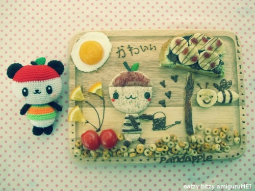 crochet cute japan kawaii apple