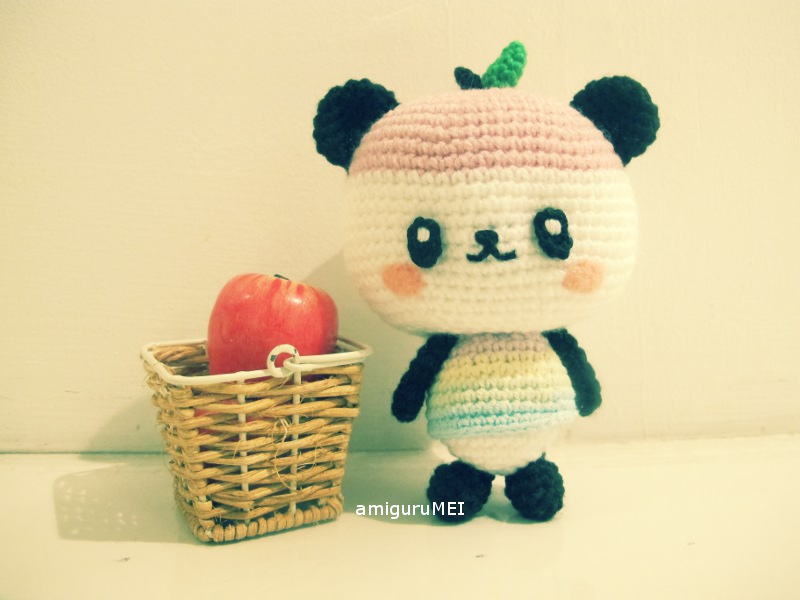 panda manzana amigurumi