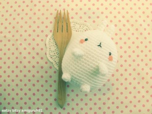crochet fat bunny