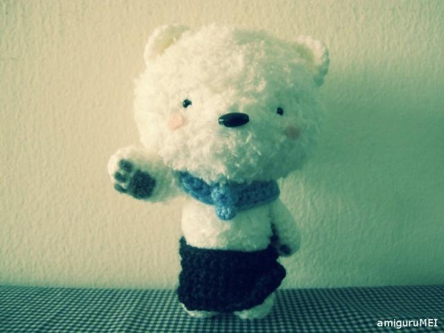 amigurumei crochet fuzzy white anime