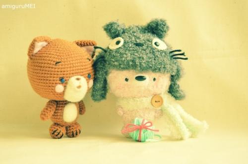 crochet ghibli fuzzy amigurumei