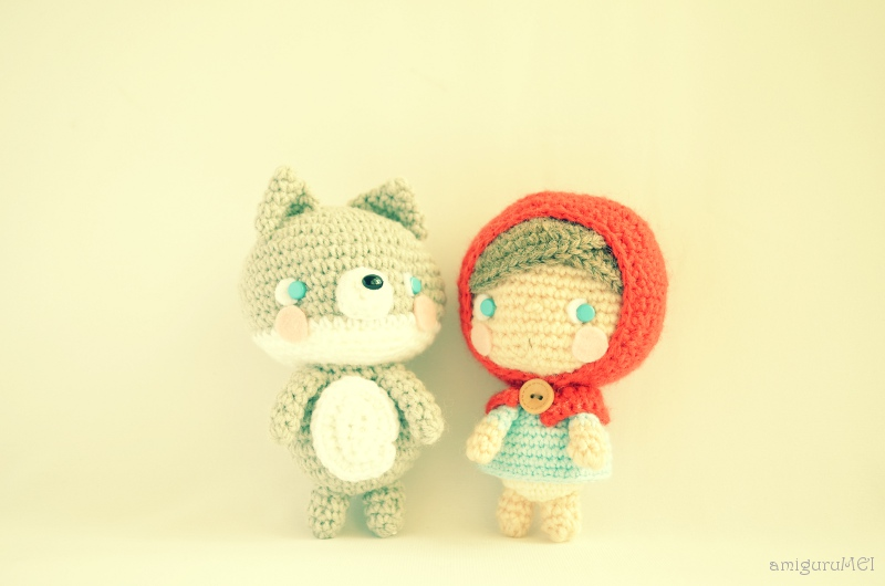 Amigurumi Patterns Wolf : The little red riding hood and the small sweet wolf amigurumei
