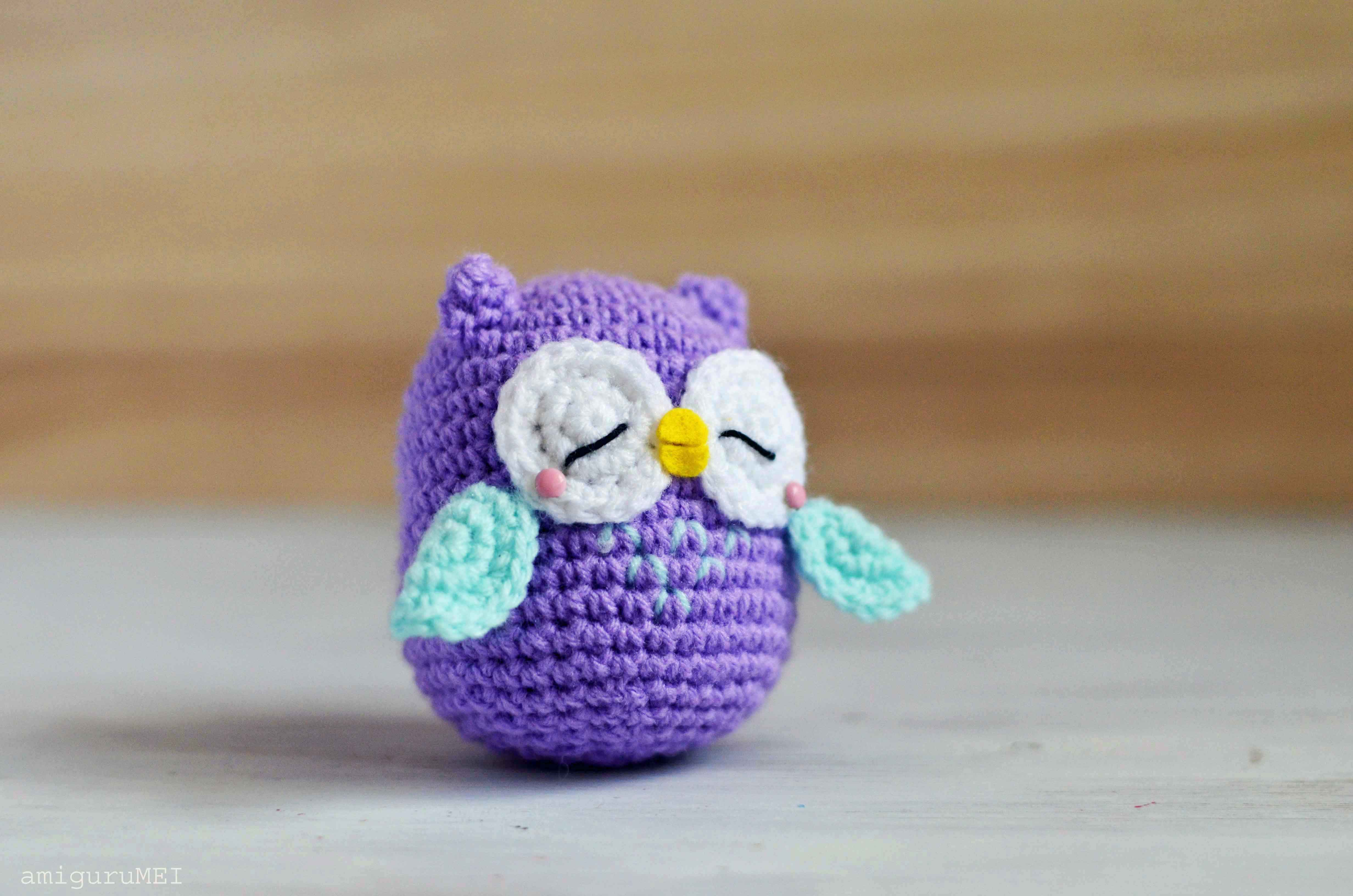 Free Amigurumi Owl Pattern : Good evening mr murasaki free pattern included amigurumei