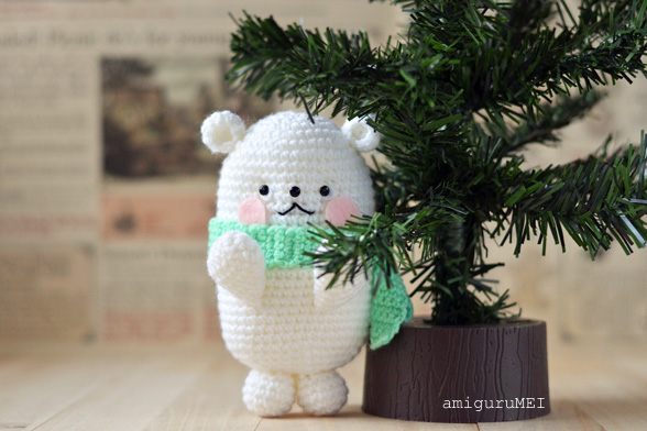 polar bear amigurumi