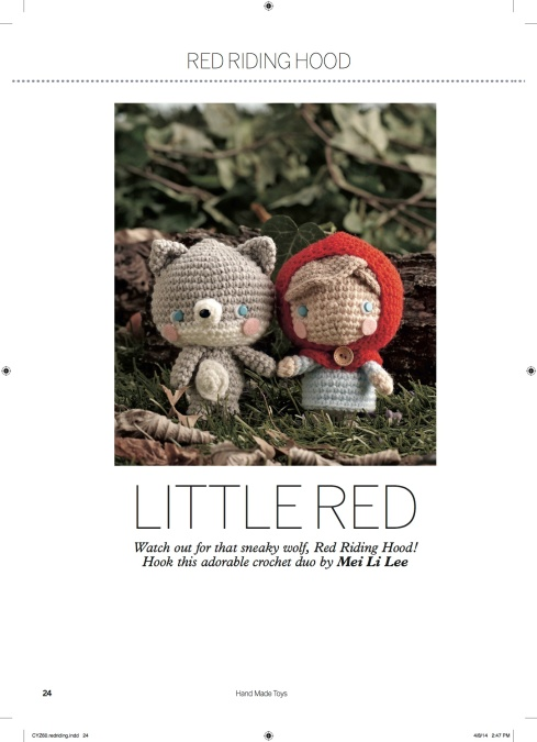 amigurumei's Little Red & Baby Wolf pattern in Hand Made Toys