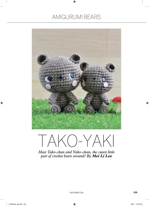 amigurumei's Tako-Yaki bear brothers pattern in Hand Made Toys
