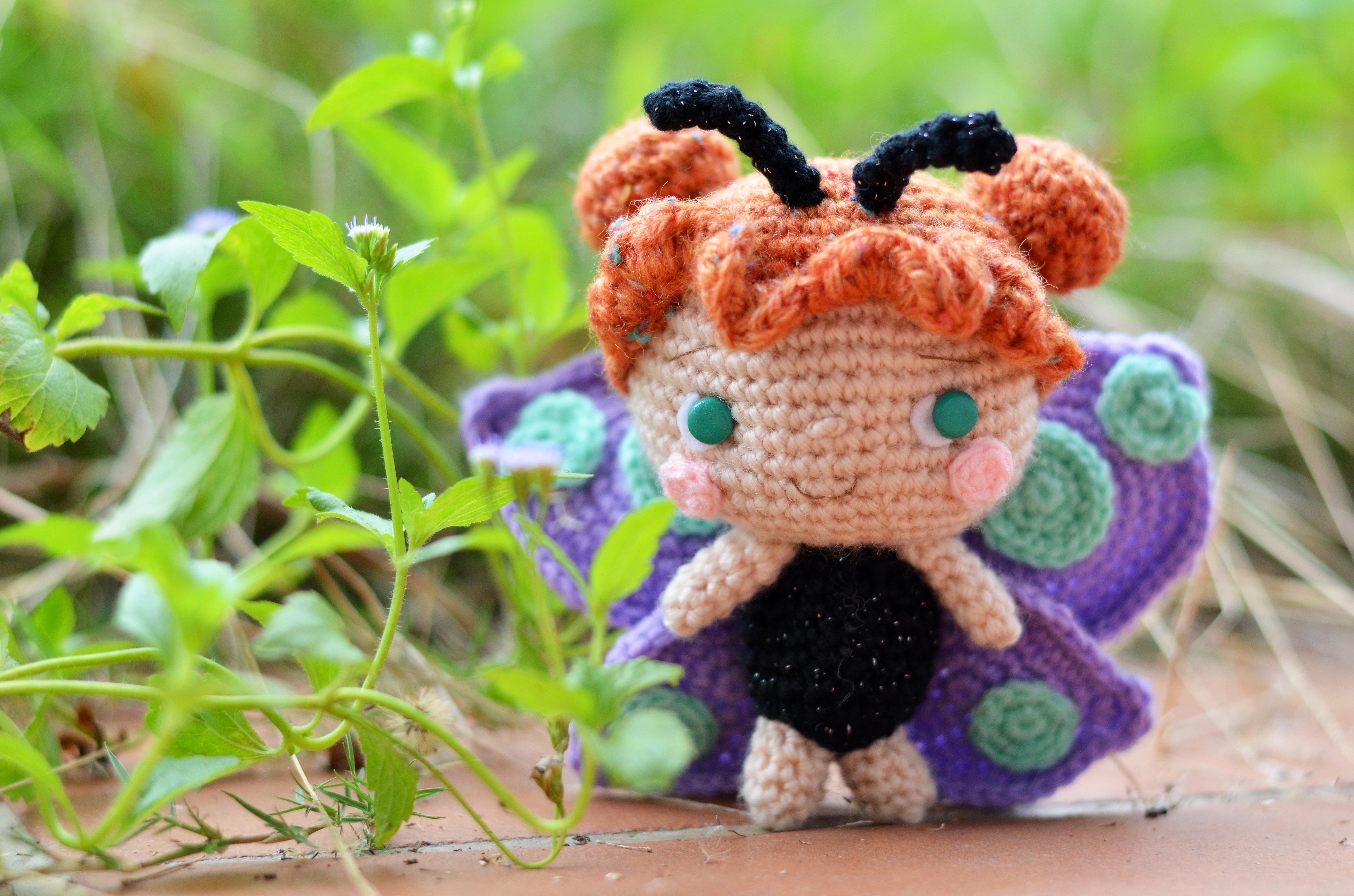Free Crochet Pattern For Butterfly Wings : amiguruMEI s Butterfly Girl in Simply Crochet Issue 19 ...