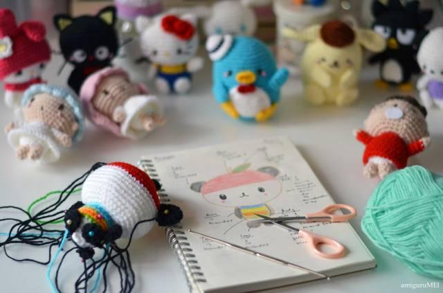 Hello Kitty Crochet by Mei Li Lee of amiguruMEI