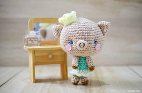 pig piglet crochet kawaii
