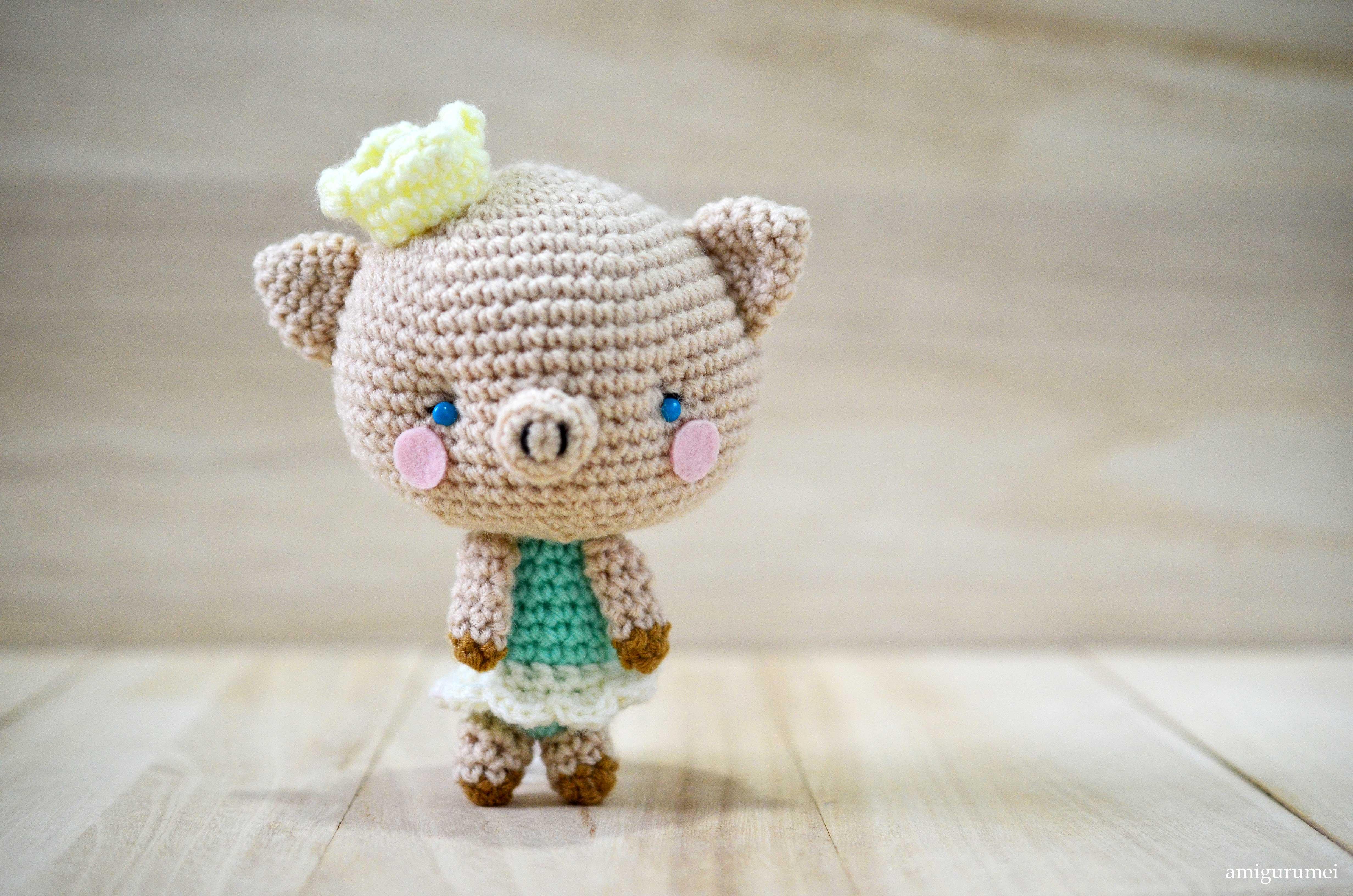Amigurumi Pig : Free amigurumi pattern princess p amigurumei あみぐるメイ