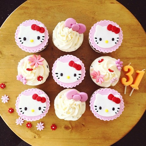 hello kitty cupcakes birthday