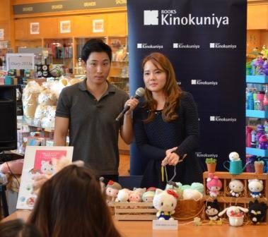 hello kitty crochet book signing at kinokuniya