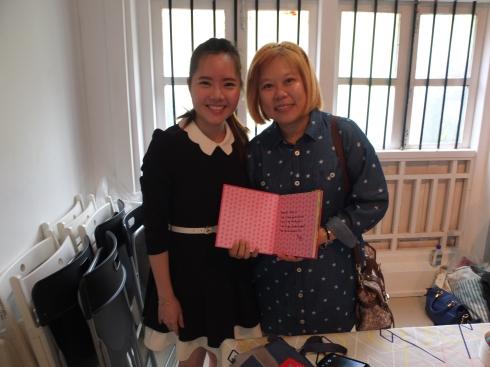 Chuu I said she was so glad to find my book smiling back at her in Kinokuniya!