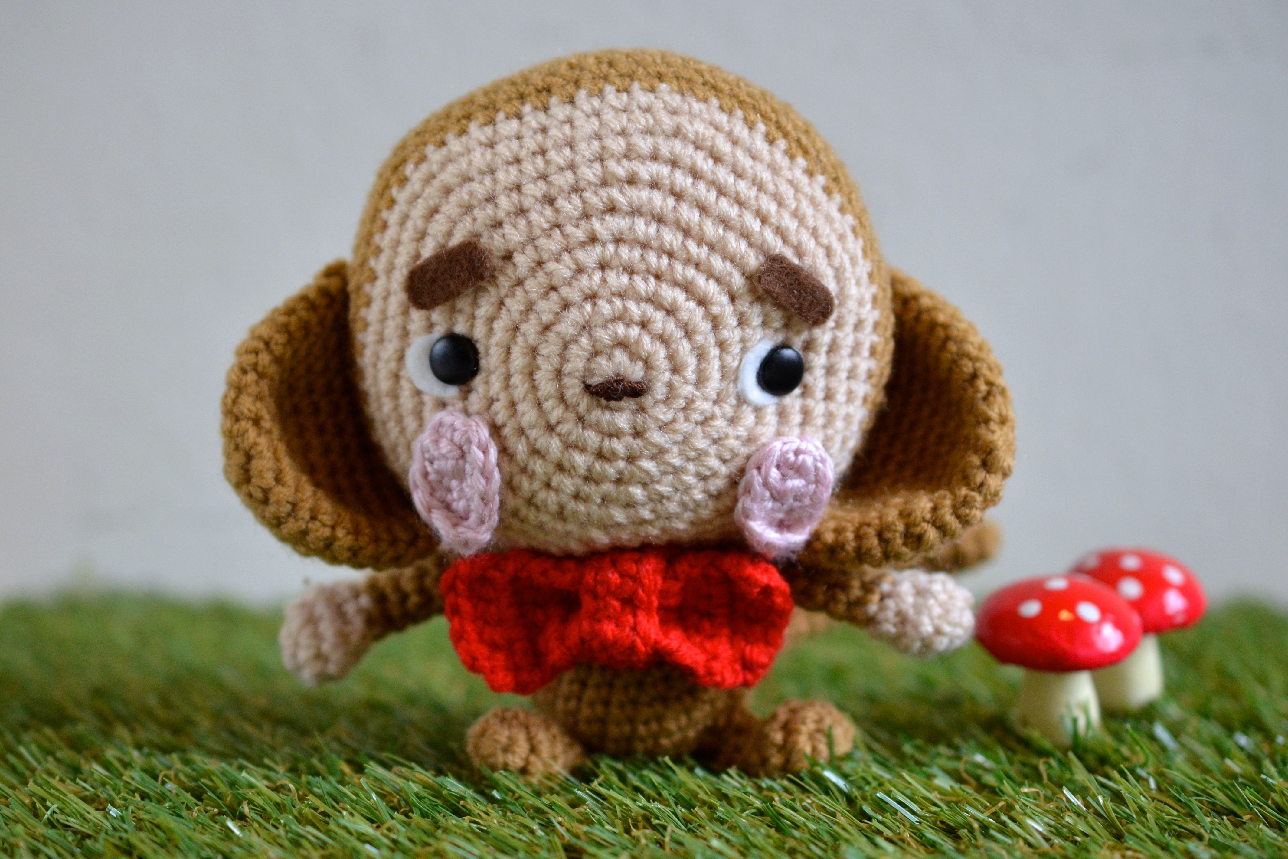 Amigurumi Monkey Pattern Free : Happy new year free daikichi the fortune monkey amigurumi