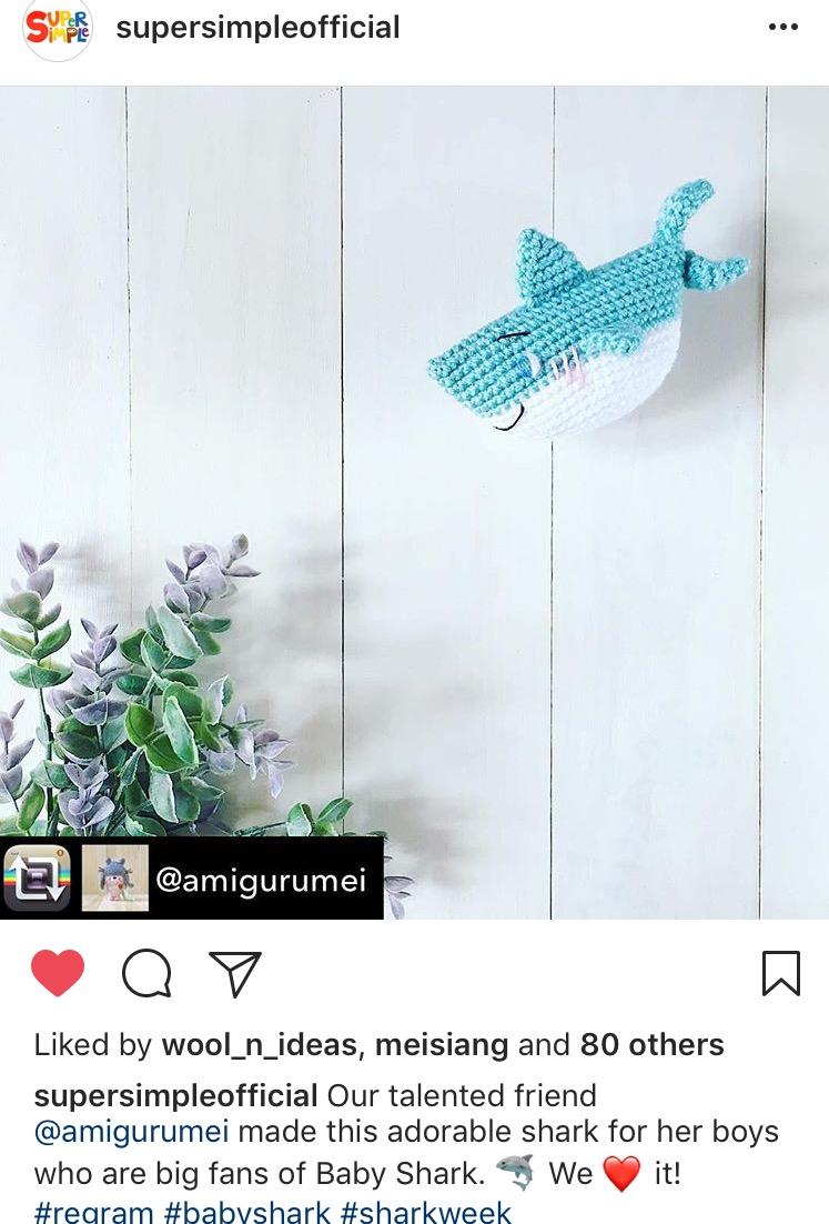 Master Aoi the Baby Shark amigurumi pattern – amiguruMEI   1102x747