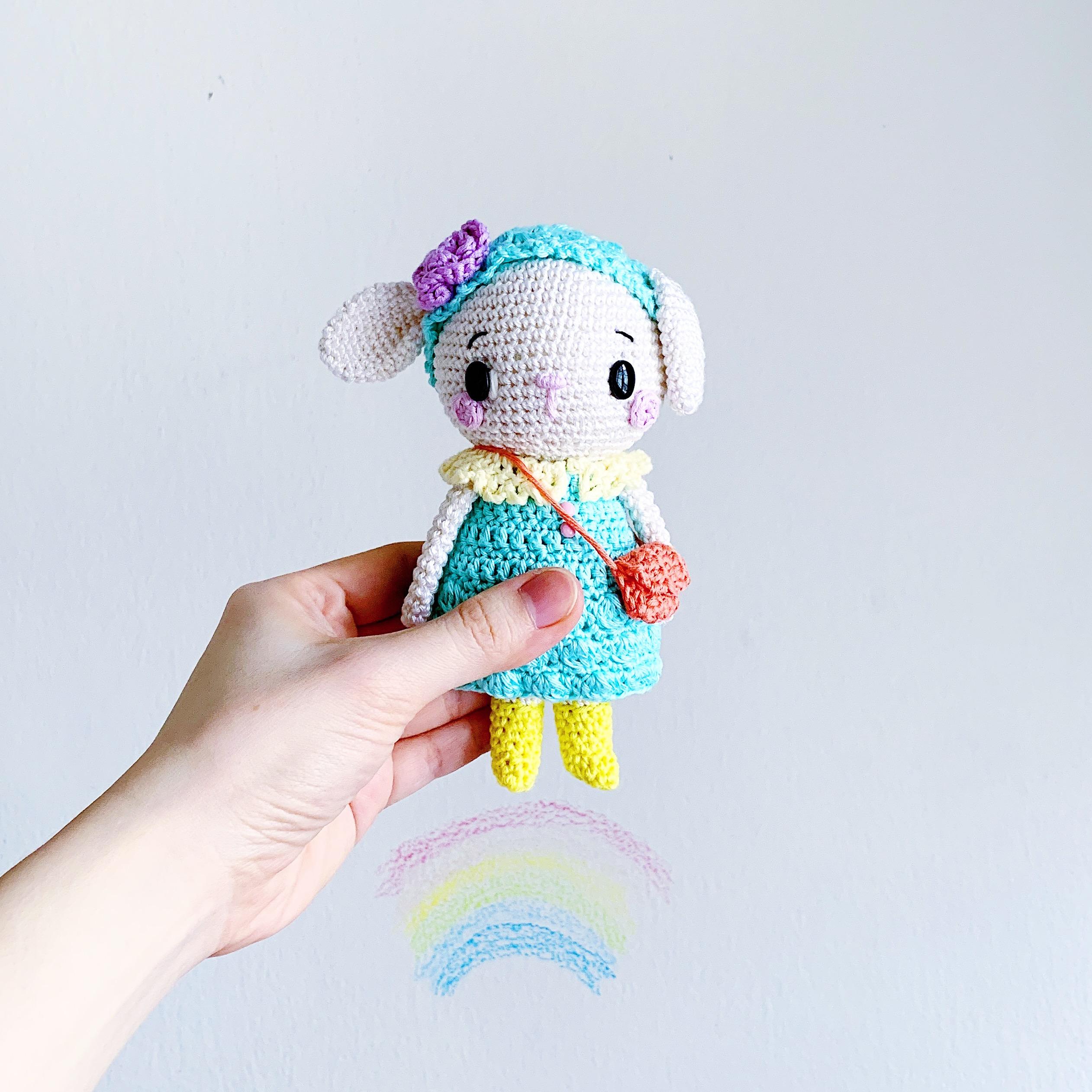 Coraline in Rio Mini Wrap crochet pattern • Simply Collectible Crochet | 2523x2523